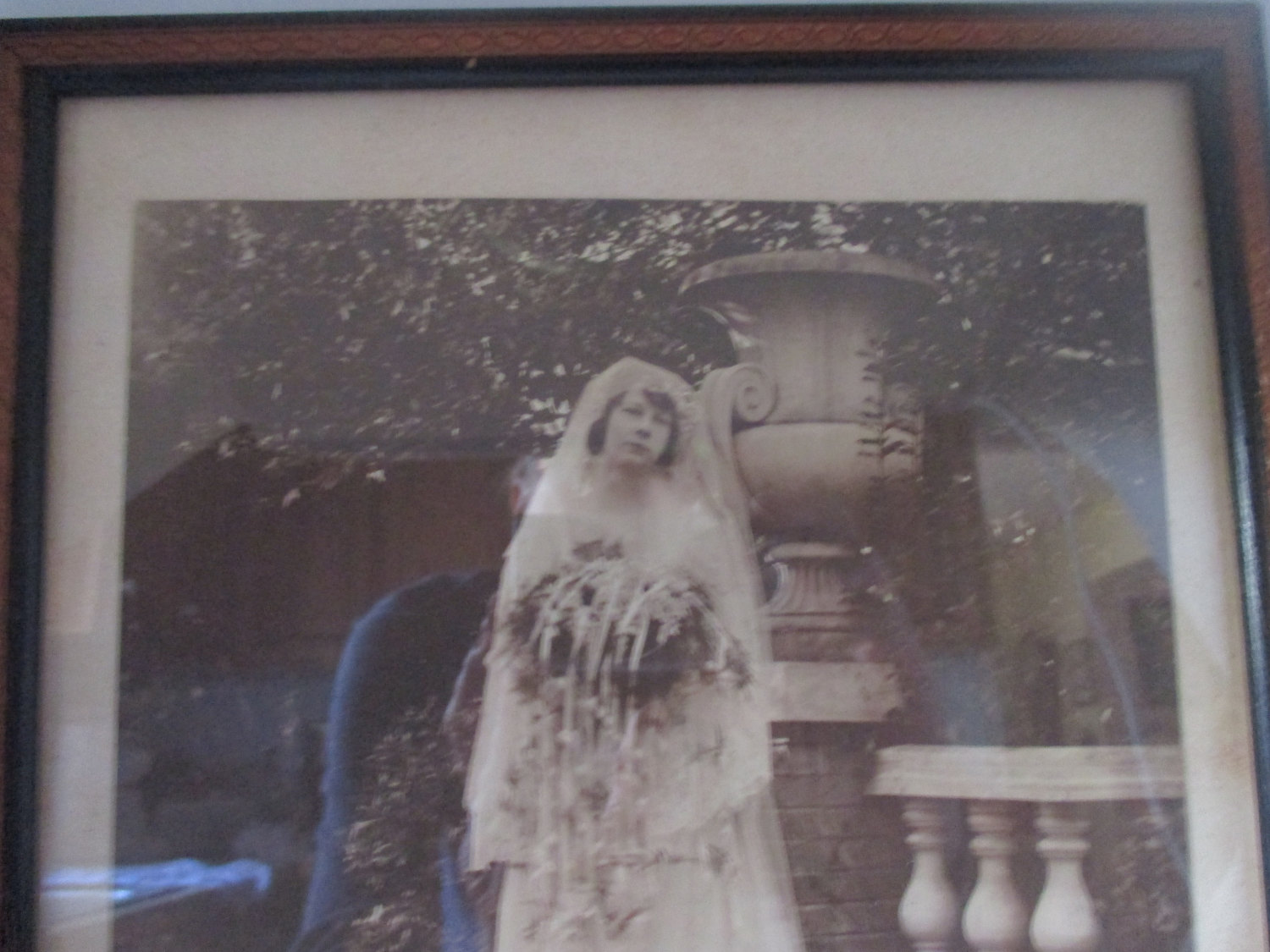 Antique Victorian Wedding Photo Picture Woman In Wedding Gown With Flowers Bridal Shower Decor Bride Wedding Wood Frame Picture 8x10 Carol S True Vintage And Antiques