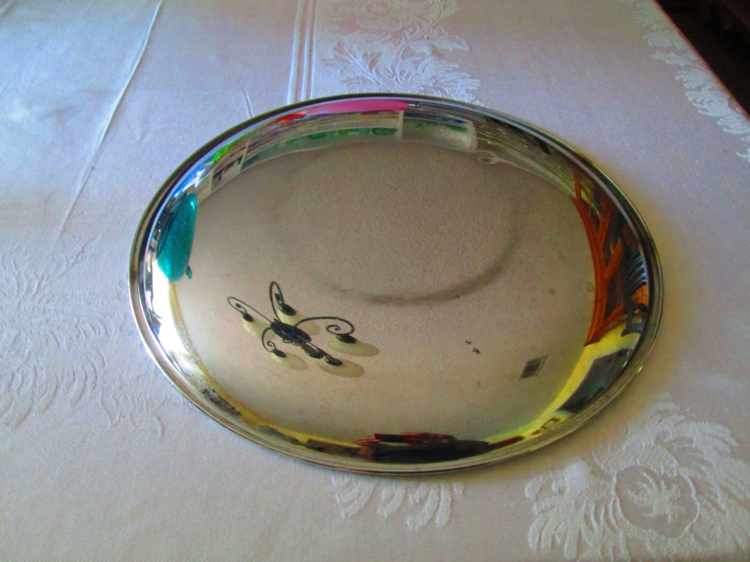 Vintage Fantastic Mid Century Modern Large Serving Tray Chrome Tray Platter Serving Tray Decorative Carol S True Vintage And Antiques