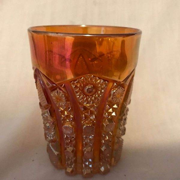 Antique 1906 Marigold crab claw Variant Imperial Glass Tumbler farmhouse collectible display decor