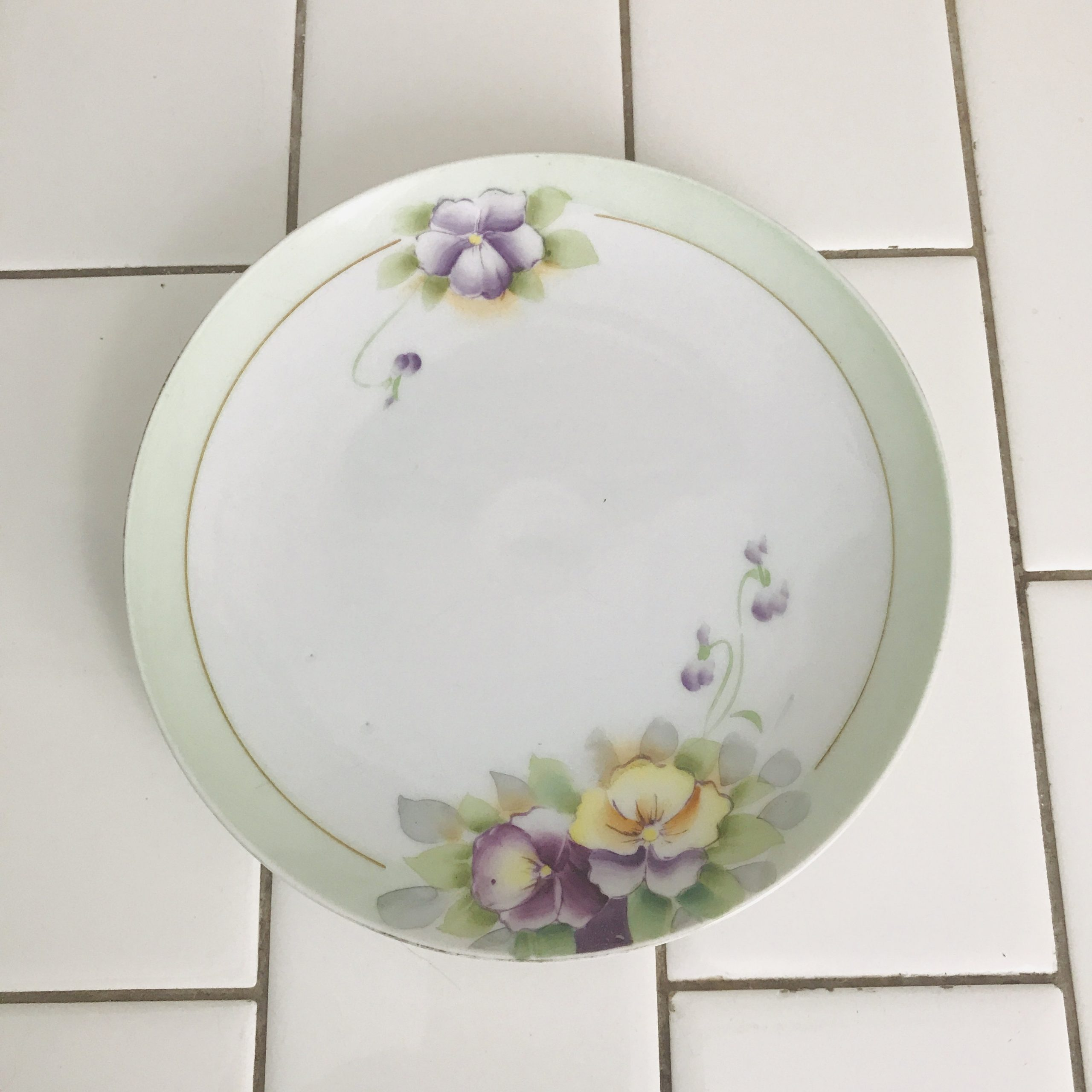 Vintage Plate Meito Japan Hand Painted Floral Display Collectible Farmhouse Cottage Decor Hutschenreuther Carol S True Vintage And Antiques