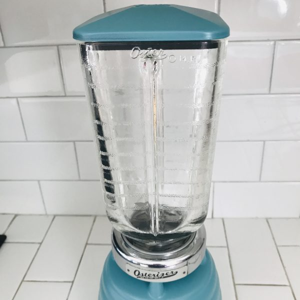 Vintage Oster All metal blender shake mixer retro display kitchen smoothie protein shakes and more collectible vintage kitchen vintage teal